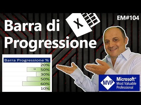 EM104 Barra di progressione (barra di caricamento) con la formattazione condizionale Excel