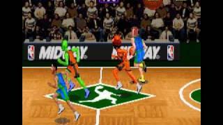 NBA Hangtime (SNES) Team Spaz and G! VS  Mavs Part 2
