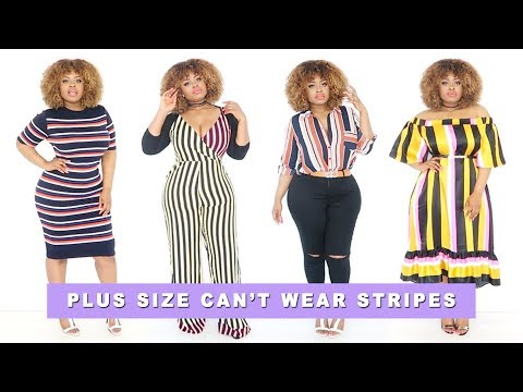 Thumbnail: Who Said A Plus Size Girl Can't Wear Stripes? | Edee Beau