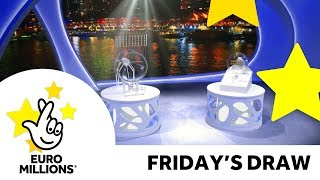 The National Lottery Friday 'EuroMillions' draw results from 22nd September 2017.