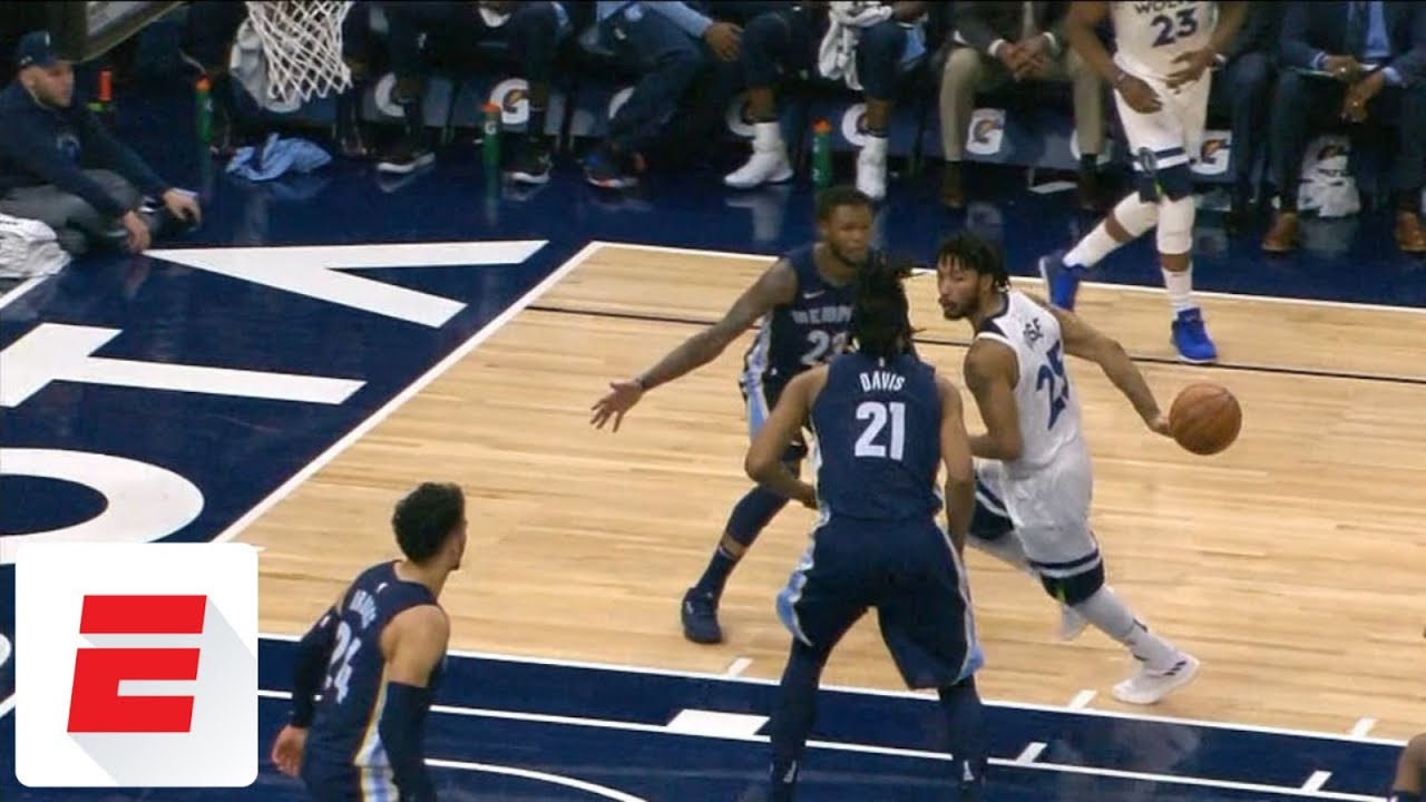 6f18d736cf5 Derrick Rose turns back the clock with nifty behind-the-back pass to  Karl-Anthony Towns
