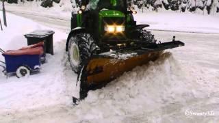 John Deere 6430 Plowing Snow