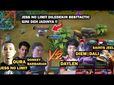 EVOS VS SAINTS !! JESS NO LIMIT KETEMU TEAM PUSH RANK DAYLEN !! - Mobile Legend Indonesia