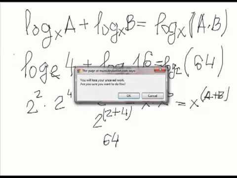 Сложение и вычитание логарифмов