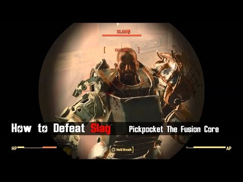 Fallout 4 - How to Defeat Slag in Saugus Ironworks [ Pickpocket Method ]