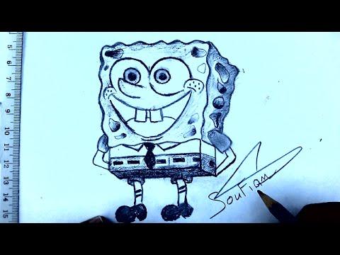كيفية رسم سبونج بوب بطريقة سهلة و رائعة Drawing Spongebob Easy Way
