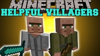 Minecraft: HELPFUL VILLAGERS (NEW JOBS, PROTECT THE VILLAGE, & NAME THEM!) Mod Showcase