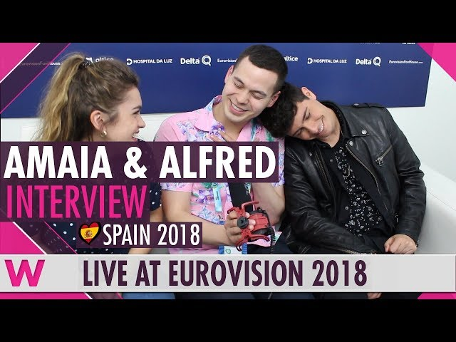 Amaia & Alfred (Spain) interview @ Eurovision 2018 | wiwibloggs