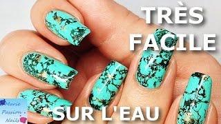 Tuto Nail Art: Pierre Turquoise (vernis sur l