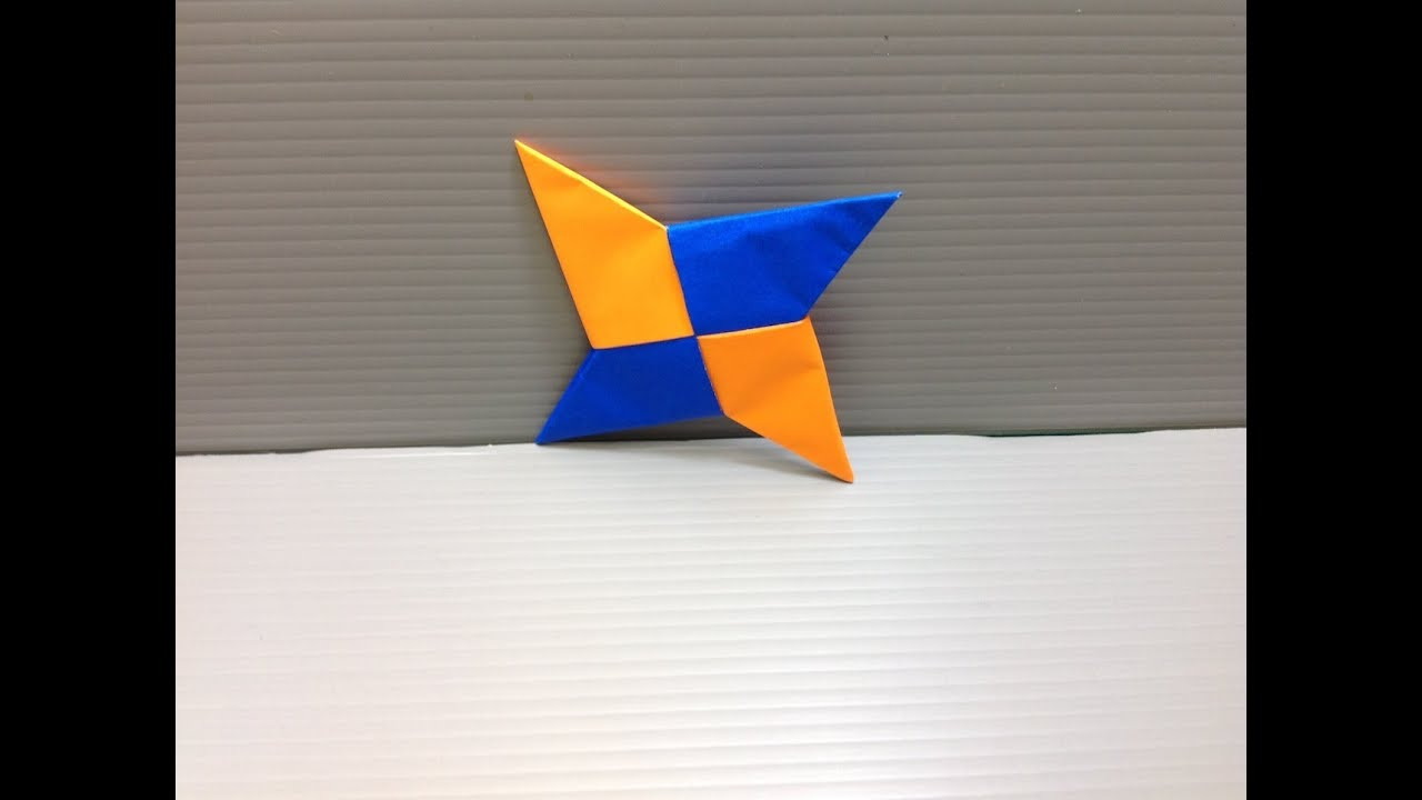 Daily Origami: 066 - Shuriken Ninja Star - YouTube - photo#42