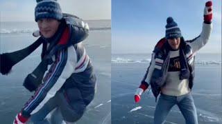 Александр Энберт показал КЛАСС в одиночном катании на озере Байкал