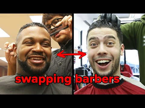 Friends Swap Barbers