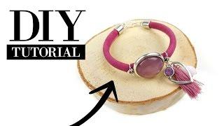 Zelf Een Armband Van Leer Met Cabochon Maken - DIY Tutorial Sieraden Maken