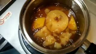 大雑把に作った花梨のジャムです。 発見:果肉はもっと入れてよい(梨のような感触) 課題:渋みの解消.