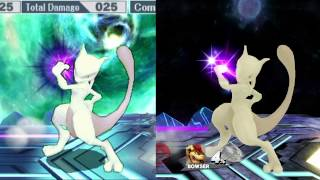 Mewtwo 3DS Vs Wii U Comparison