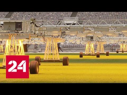 Высокотехнологичный стадион первый матч в обновленных