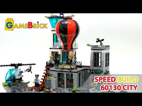 LEGO speed build review city 60130 PRISON ISLAND