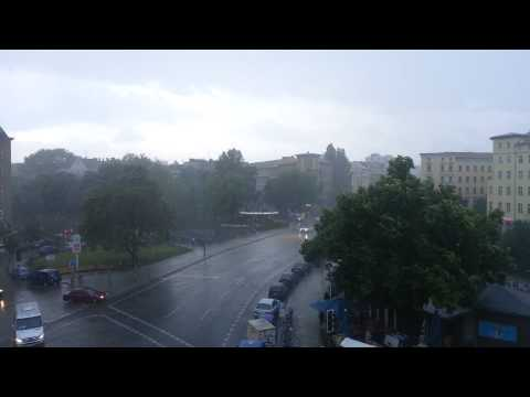 Little storm with the crazy spring weather in Berlin