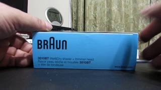 BRAUN SERIES 3 3010BT RECHARGEABLE SHAVER UNBOXING AND REVIEW