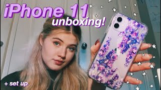 Purple iPhone 11 Unboxing + Set-up!! 💜