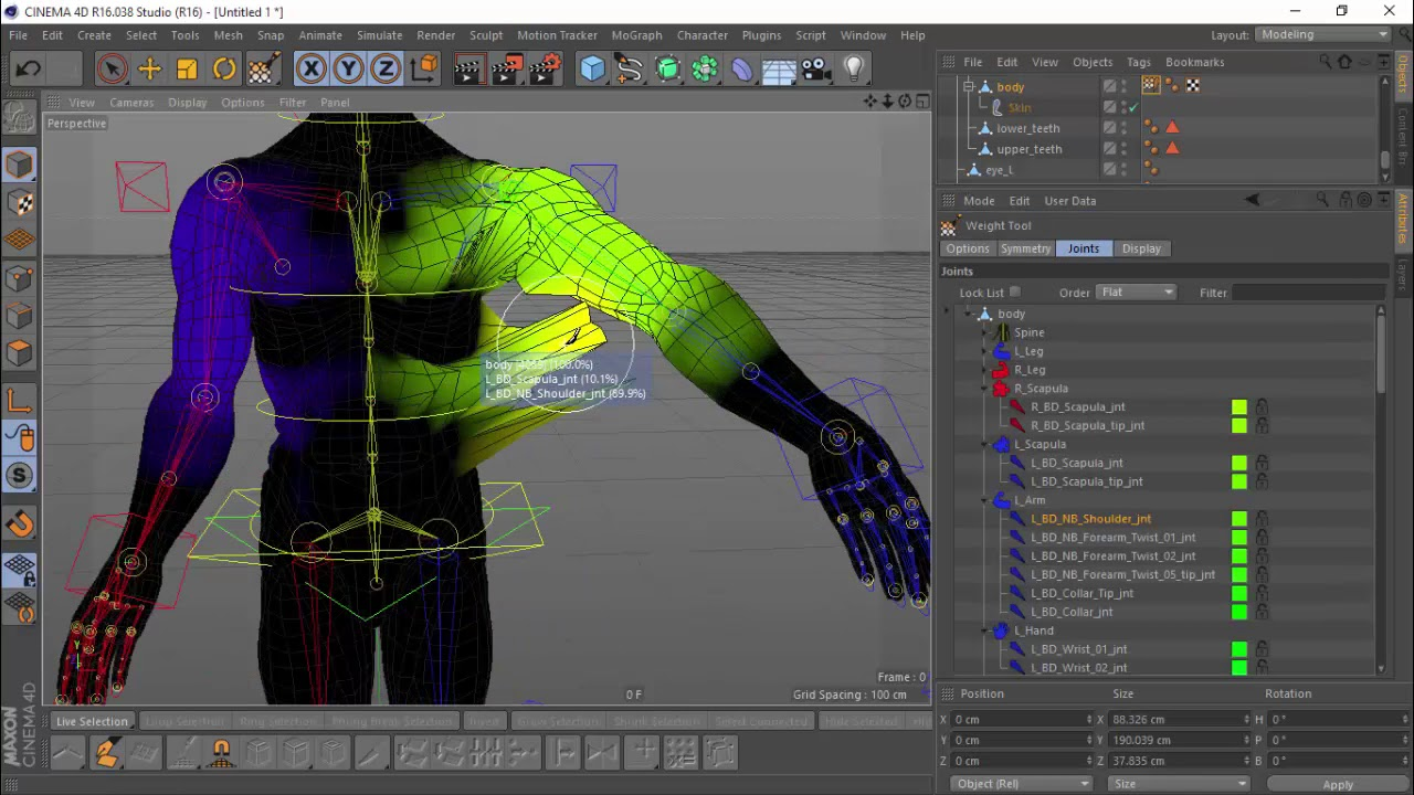 cinema 4d advanced biped rigging and weighting tutorial [4x speed]
