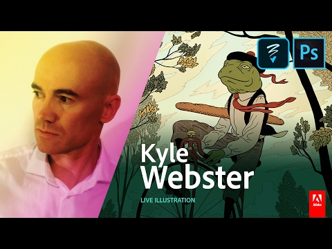 Live Illustration with Kyle Webster (KyleBrush) Day 2 - AdobeLive