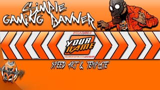 Simple Gaming Banner - speed art and template