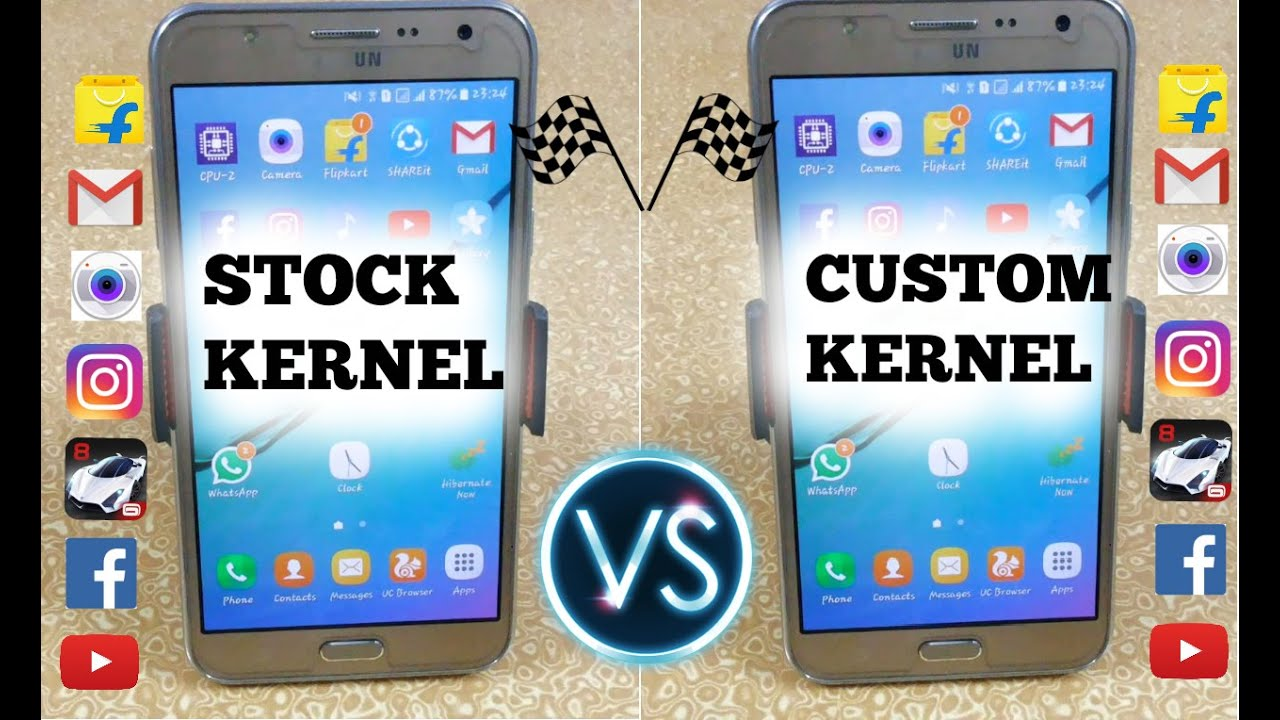 Stock Kernel Vs Custom Kernel (Optimax) Of Samsung Galaxy J7 - Speed Test