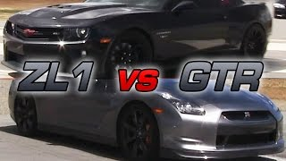 GTR vs Twin Turbo Camaro ZL1