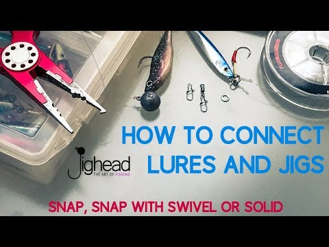 JIGHEAD TV: How to connect lures, jigs and soft bait – snap, swivel or solid ring (TN knot)