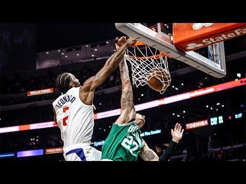 Kawhi Leonard MONSTER SLAM vs. Celtics | 11/20/2019