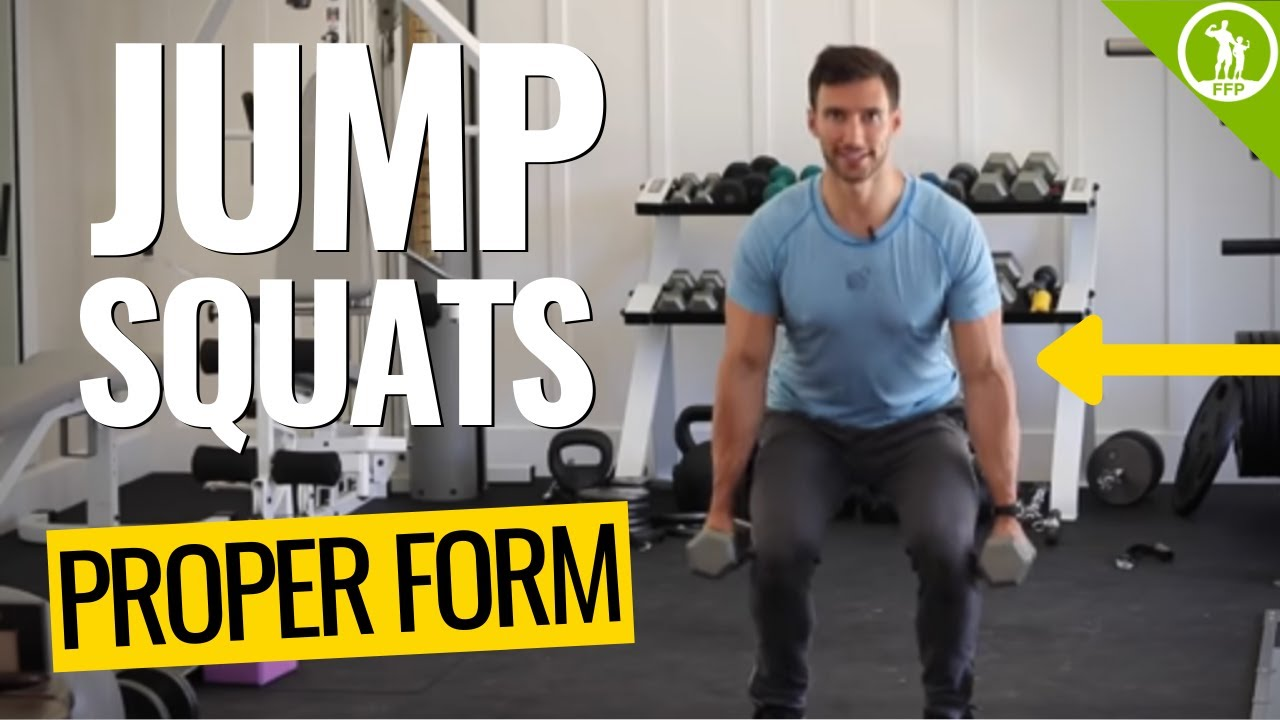 How To Do Jump Squats Properly - Full Video Tutorial & Exercise Guide (With  & Without Weights)