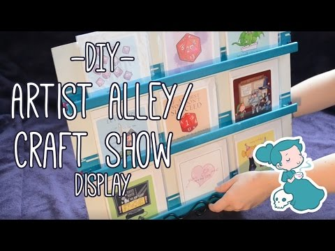 DIY Artist Alley or Craft Show Display Shelf