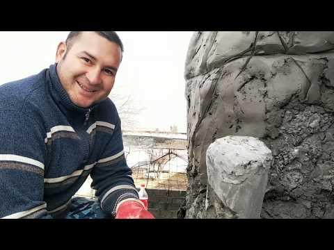 Как сделать мангал барбекю из бетона виде камня #3