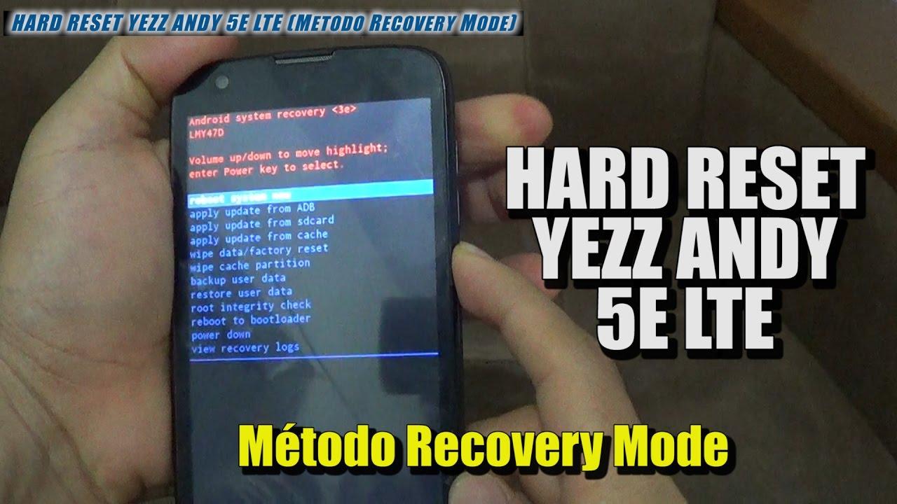 Hard Reset YEZZ Andy 5E - HardReset info