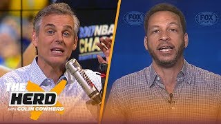 Chris Broussard talks Warriors title, Butler's outburst, and LeBron's preseason | NBA | THE HERD