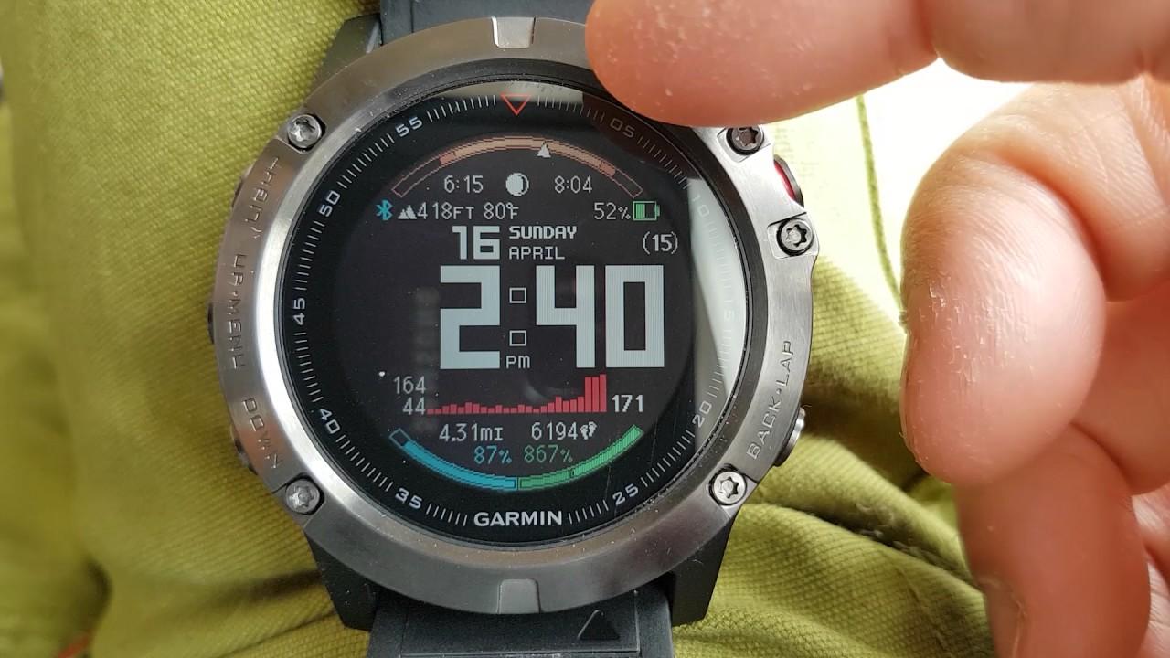 My Watch Face Garmin Fenix 5x Review Youtube