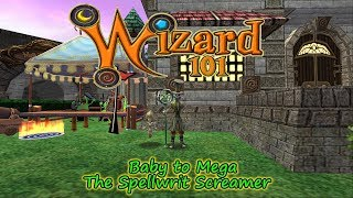 Wizard101 Spellwrit Screamer Pet Training Baby To Mega Lost Pages - YT
