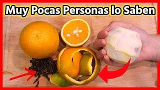 Si Hierves Cáscaras de Naranja con Clavos🍊Tus amigos tbn querrán esta receta por +10 cosas que hace