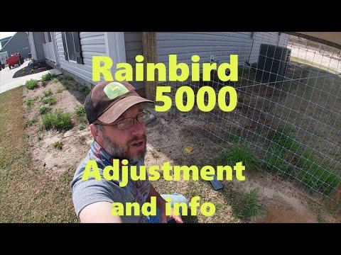 Rainbird 5000 Adjustment