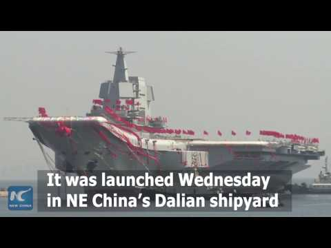 Rare footage: how China's new aircraft carrier is built