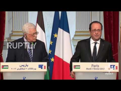 France: Hollande and Abbas condemn Israeli law on W. Bank settlement-building