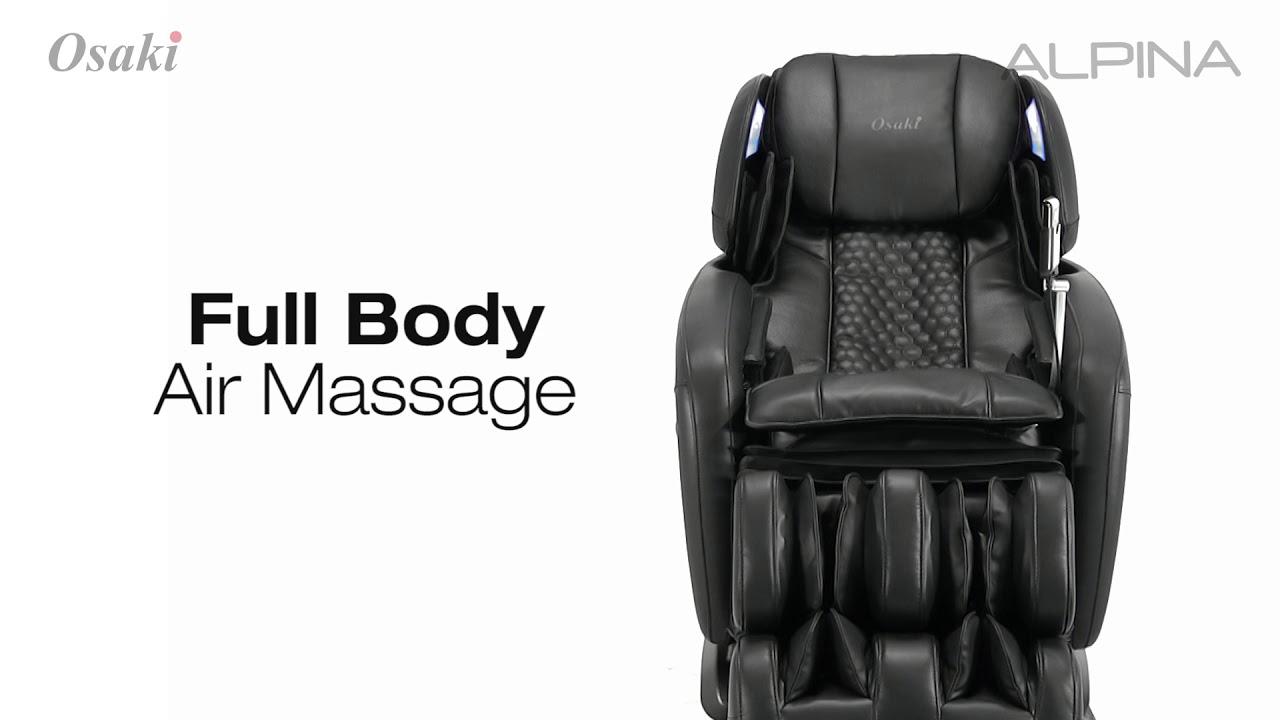 osaki ospro alpina ltrack massage chair