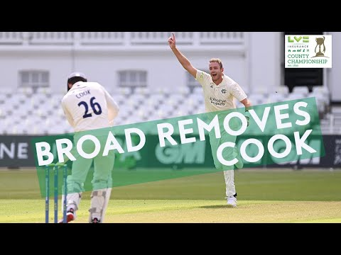 Broad Removes Cook As Essex All Out for 99! | Notts v Essex | LV= Insurance County Championship