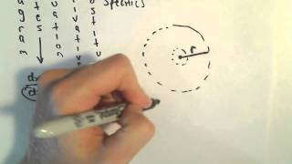 Related Rates #6 - Rate at Which the Circumference of a Circle is Changing
