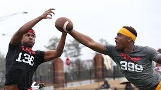 Atlanta WR vs DB 1 on 1's | Nike Football's The Opening Regionals