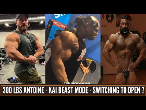 Kai Greene still holding onto massive size-Bryan Jones switching to open class?Antoinev 300 lbs life