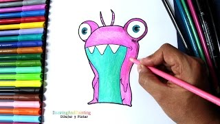 How to draw and paint SUDS Bubbaleone (Slugterra) | Cómo dibujar babosa burbuja Suds (Bajoterra)