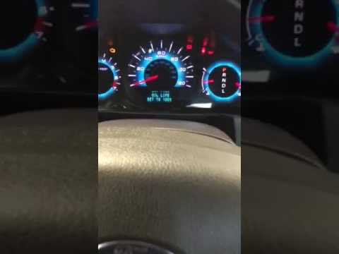 2012 2011 2010 Ford Fusion Oil Light Reset Youtube