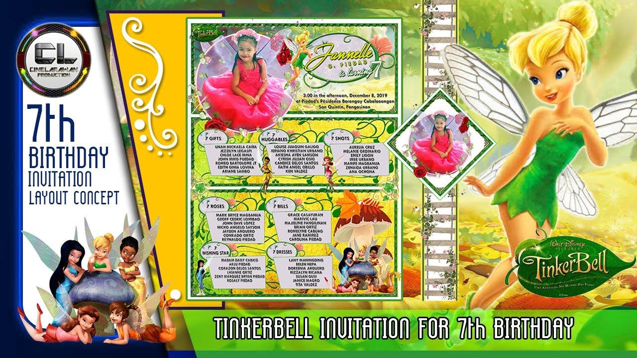 tinkerbell invitation for 7th birthday cinelarawan production